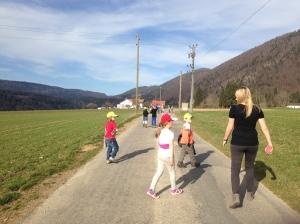 Promenade au terrain de foot du village